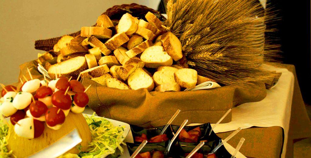 I prodotti biologici dell'azienda saranno utilizzati per interpretare un'ottima cucina siciliana