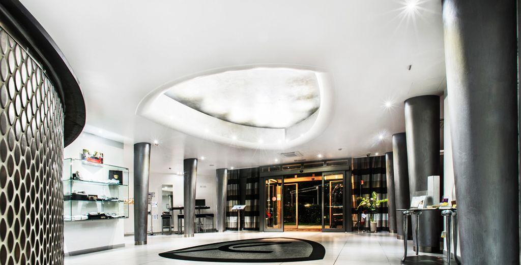 Il concept tecnico e allo stesso tempo elegante caratterizza questo hotel
