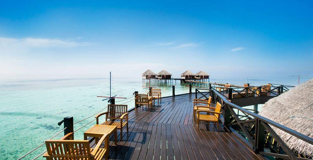 un resort a 4* affacciato sull'Oceano Indiano