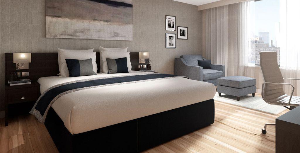 Soggiornerete in appartamenti con camera Club o camera Suite