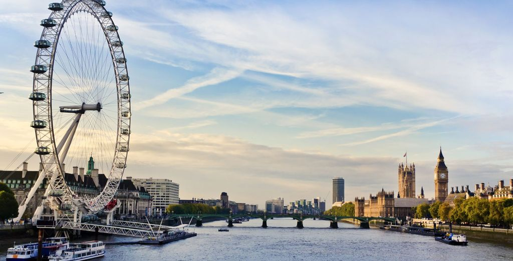 e guardare la città dall'alto del London Eye