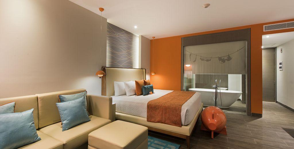 Potrete scegliere tra Suite Nest, perfette per due