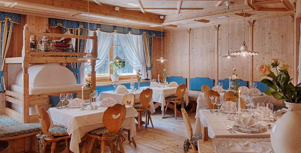 Il vostro palato verrà deliziato da ottime specialità altoatesine o da piatti della cucina internazionale