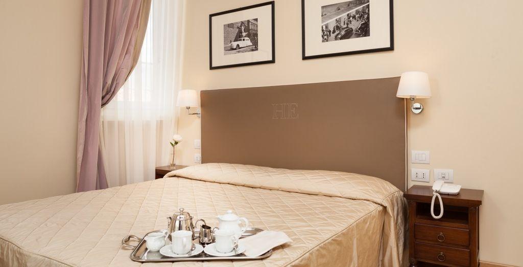 Potrete soggiornare in accoglienti e confortevoli Camere Classic
