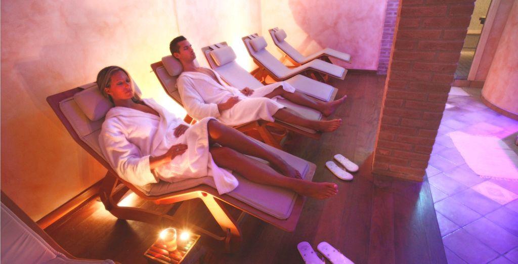 Concedetevi momenti di puro relax nella bellissima spa