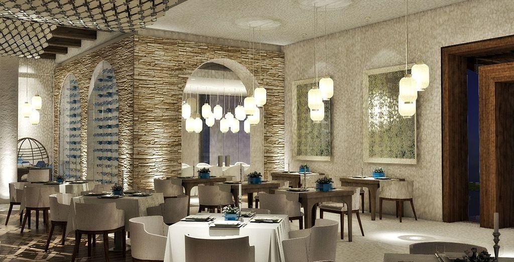 potrete scegliere tra 7 ristoranti à-la-carte
