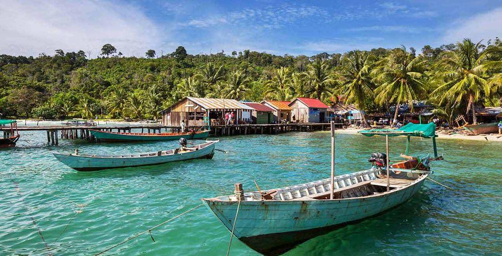 Infine rilassatevi nel mare da sogno di Sihanoukville