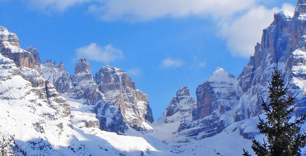 nell'incantevole scenario delle Dolomiti di Brenta
