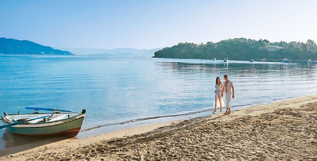 La spiaggia poi vi attende per una passeggiata sulla sabbia