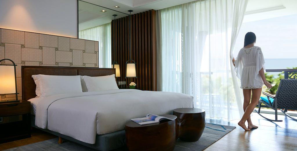 Soggiornerete nelle ampie e luminose camere Luxury