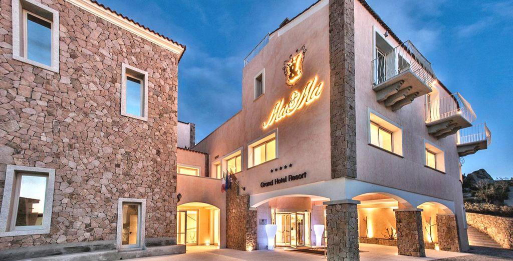 Soggiornerete presso il Grand Hotel Ma & Ma