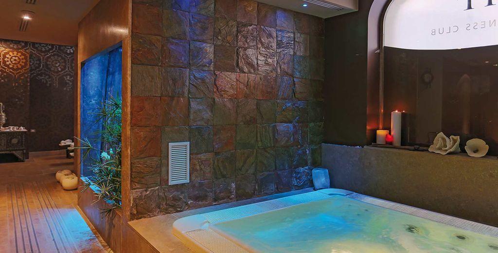 a vostra disposizione avrete idromassaggio, sauna e massaggi personalizzati