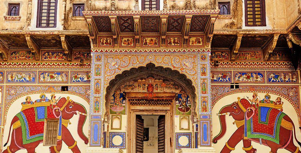 I dipinti mostrano il vero stile di vita del Rajasthan