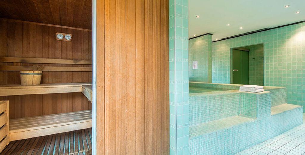 o nella benefica sauna