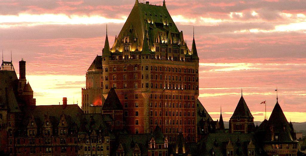 alla bellezza del Chateau Frontenac a Québec