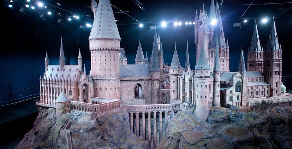 Rappresentazione del castello di Harry Potter nel centro di Londra