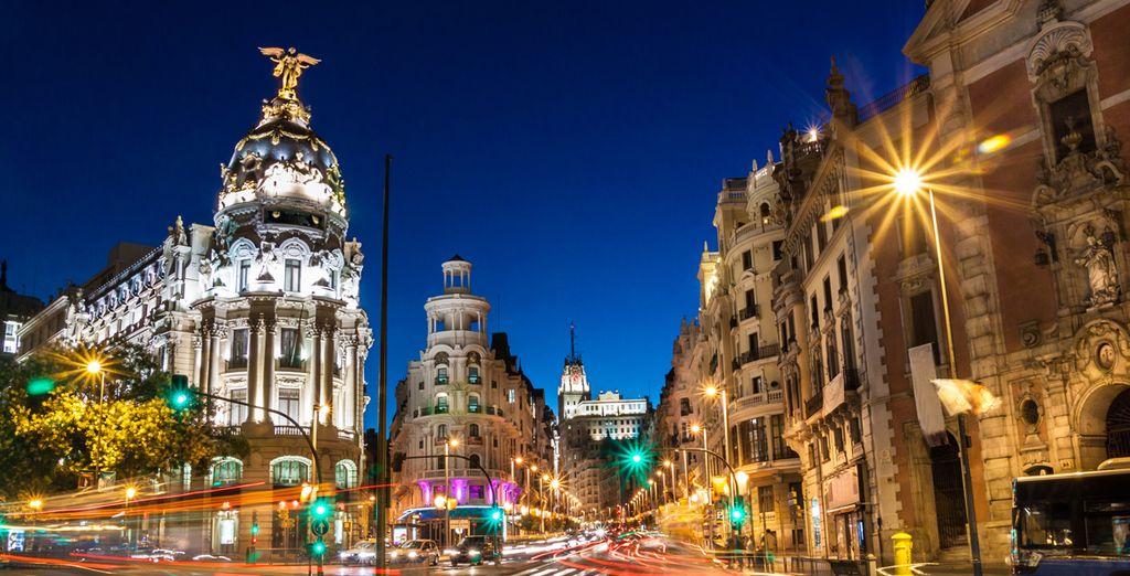 Fotografia della capitale spagnola, madrid e dei suoi monumenti
