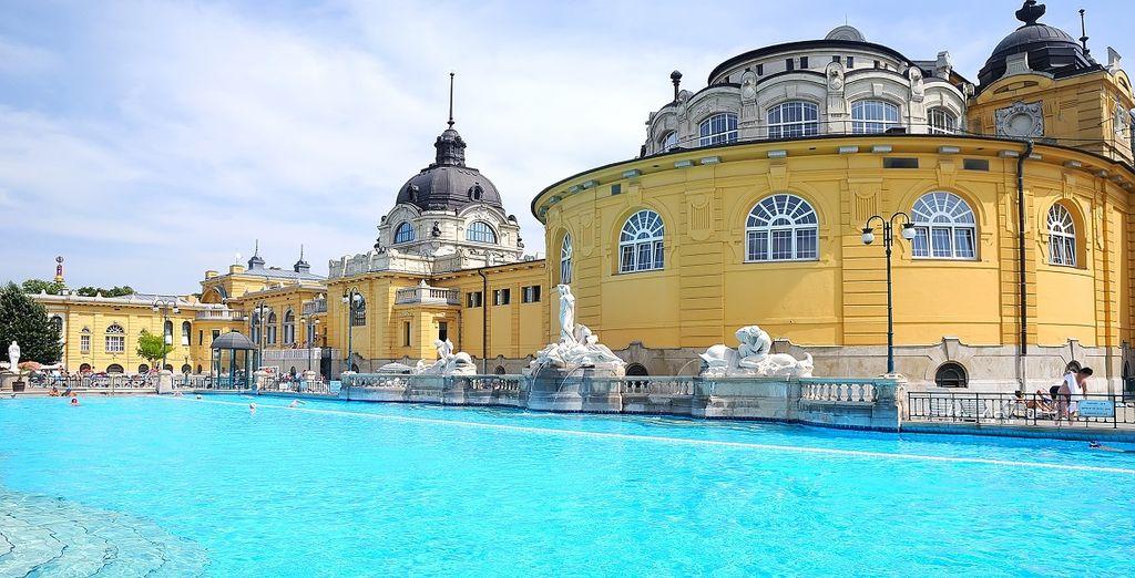 Fotografia delle Terme di Szent Lukacs nel secondo arrondissement di Budapest