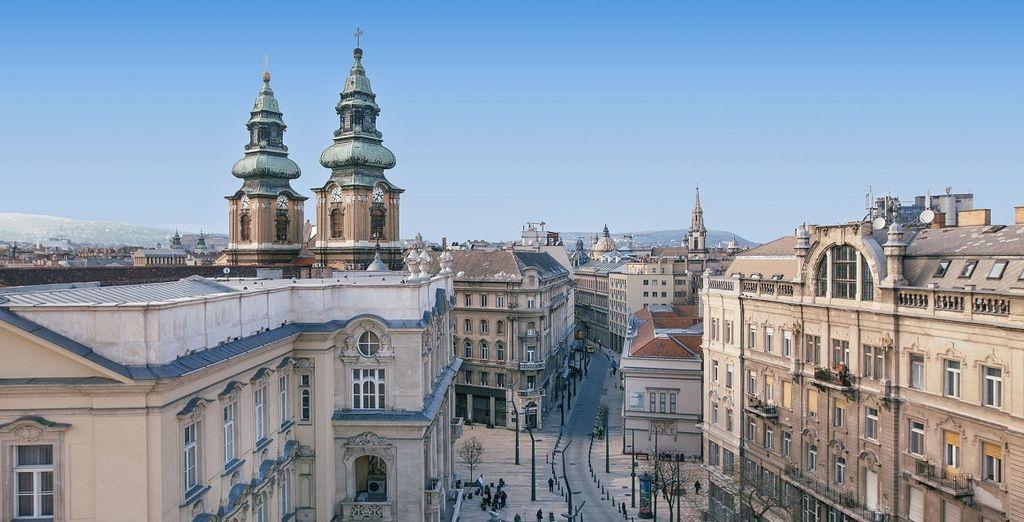 Fotografia di un quartiere di Budapest, una delle città più belle d'Europa