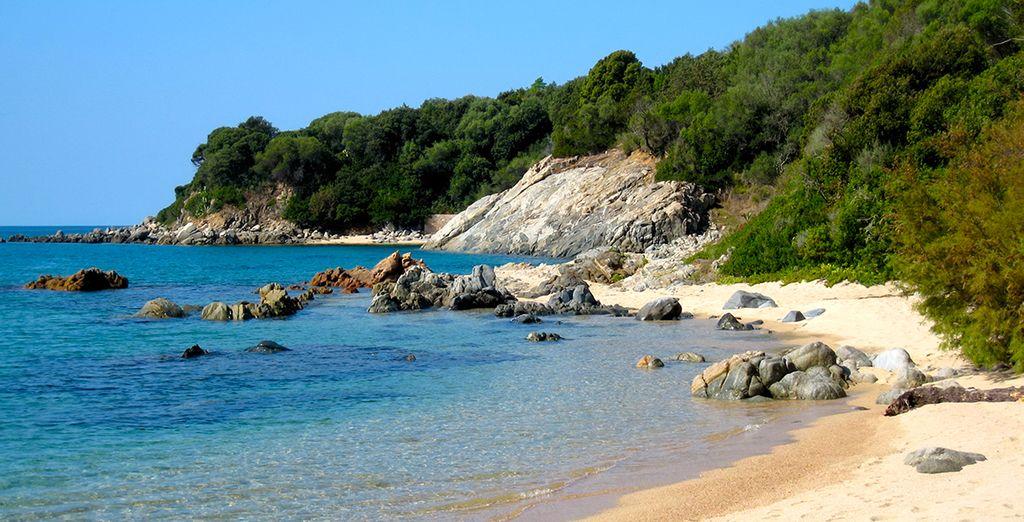 Fotografia della Corsica e delle sue spiagge di sabbia fine