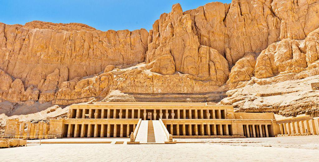 Fotografia dell'antico tempio di Regina Hatshepsut
