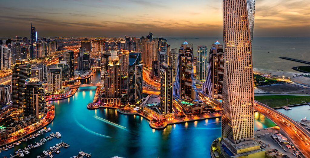 Fotografia della città di Dubai negli Emirati Arabi Uniti
