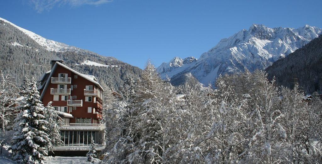 Montagne innevate delle Alpi italiane