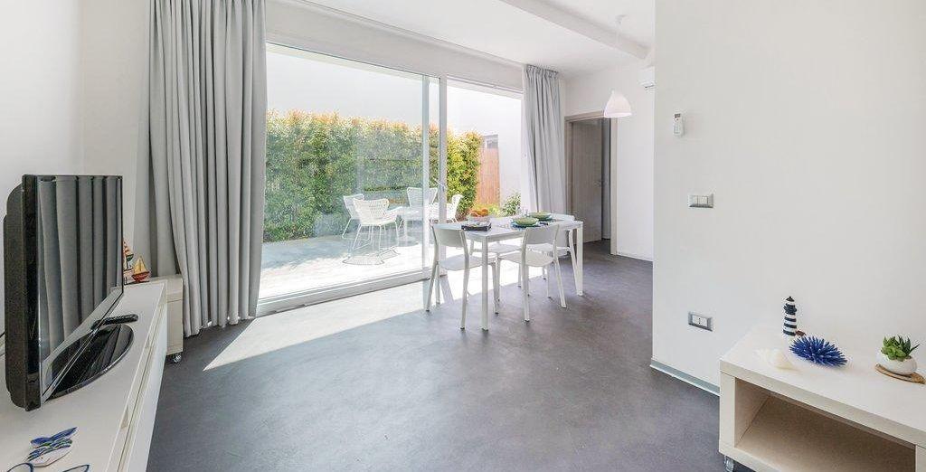 Qui potrete soggiornare in confortevoli appartamenti