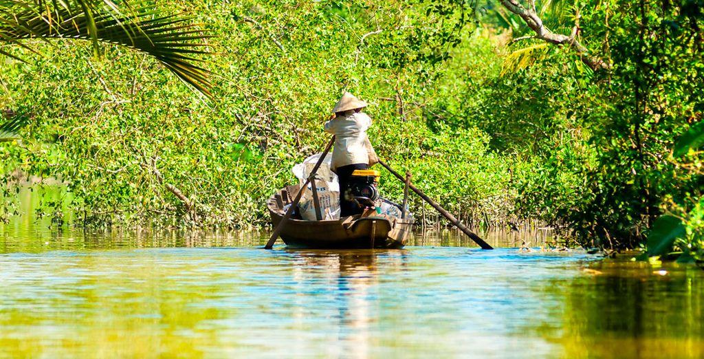 Navigate il Delta del Mekong sulle imbarcazioni tradizionali