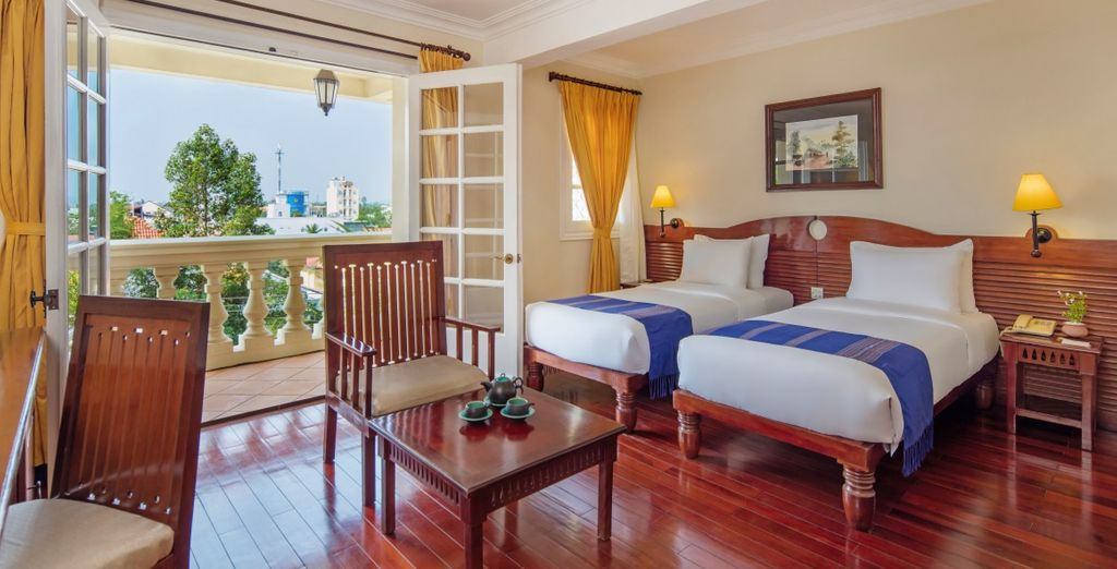 A Chau Doc potrete rilassarvi nella vostra Camera Superior del Victoria Chau Doc Hotel