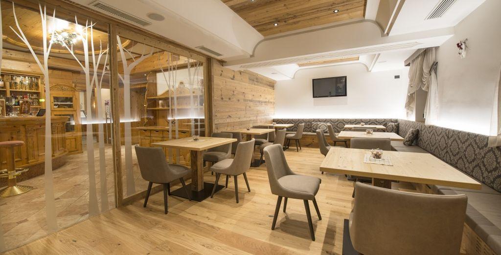 Spazi moderni e di design si alternano agli ambienti in stile tradizionale