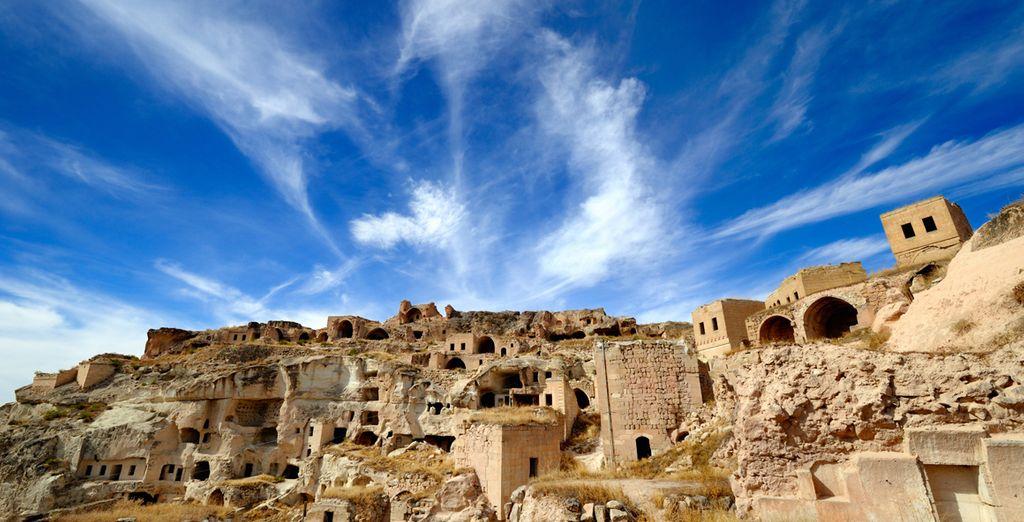 Fotografia delle rovine storiche di Lycies in Turchia