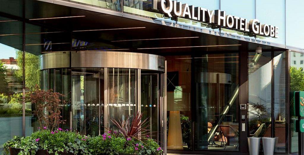 Se decidete di acquistare il pacchetto 8 notti, la prima notte sarà al Quality Globe Hotel di Stoccolma prima di partire per la crociera