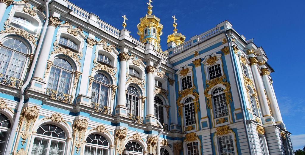 Potrete visitare il Parco di Pushkin con Palazzo di Caterina