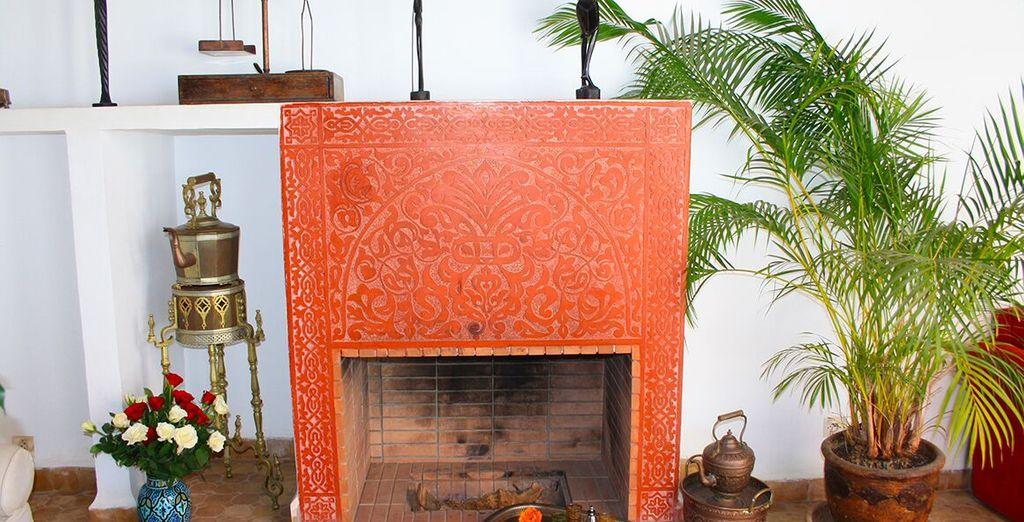 caratterizzato da materiali e colori nuovi mescolati alla decorazione di un tempo