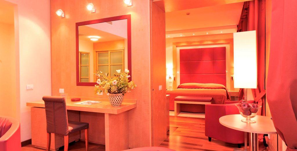 Potrete soggiornare in splendide camere Superior o Suite