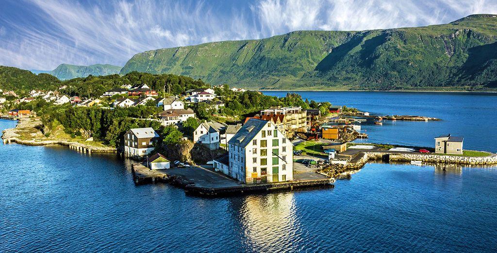 Paesaggio della Norvegia durante una crociera di alto livello con Royal Caribbean