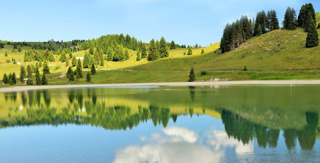 Paesaggi in Trentino, Italia