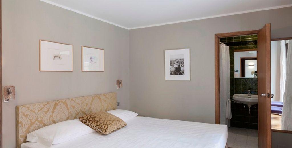 soggiornerete in eleganti e spaziose camere Standard