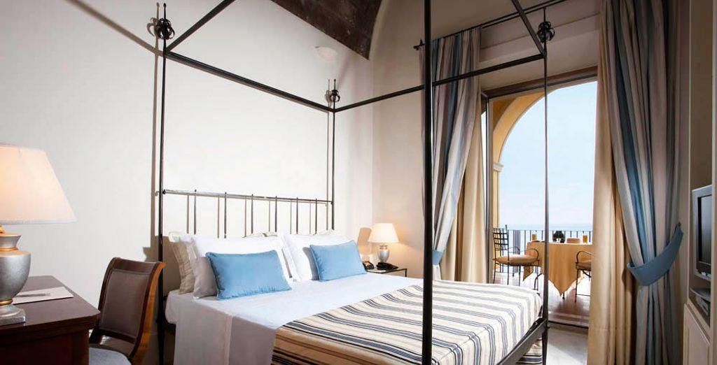 De Deluxe kamer heeft een balkon