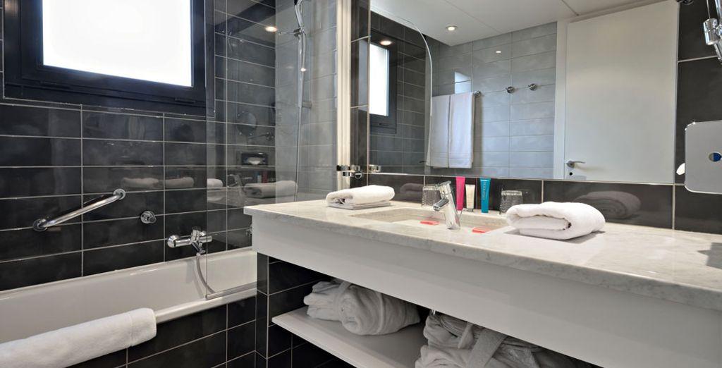 En een bijzonder moderne badkamer
