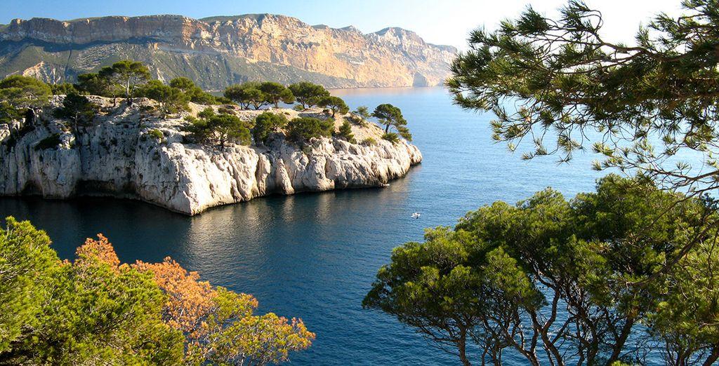 Trek eropuit om Marseilles beroemde