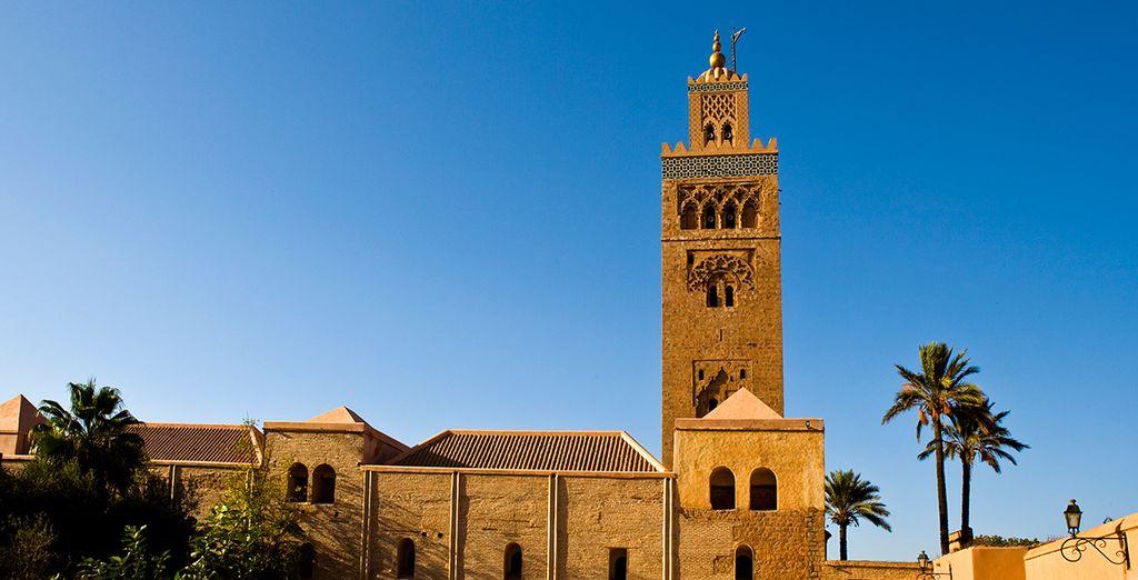 Breng een bezoek aan de iconische Koutoubia moskee
