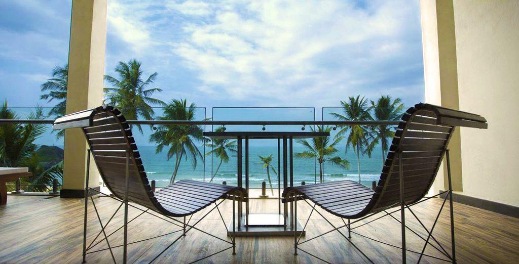 Met een prachtig uitzicht vanaf het terras