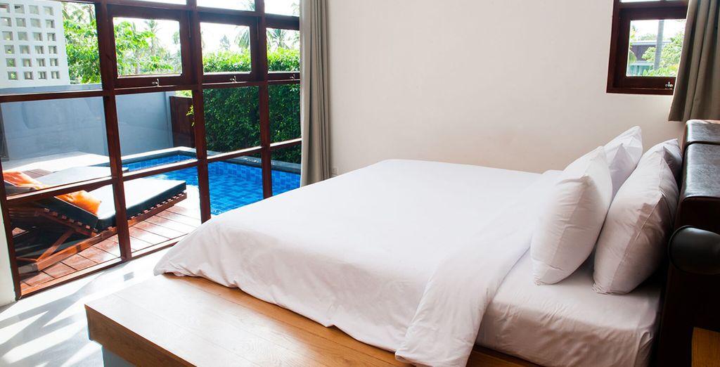 Verblijf in een Superior Pool Villa (1 kamer)