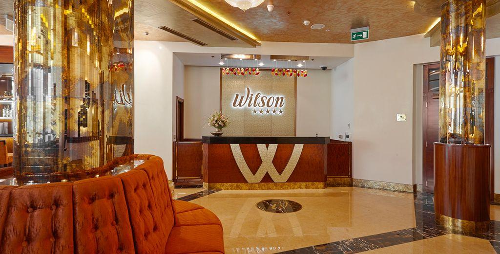En richting het Occidental Praha Wilson Hotel