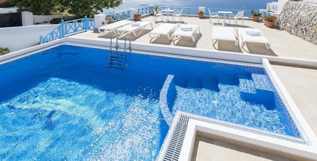 Met een lekker zwembad