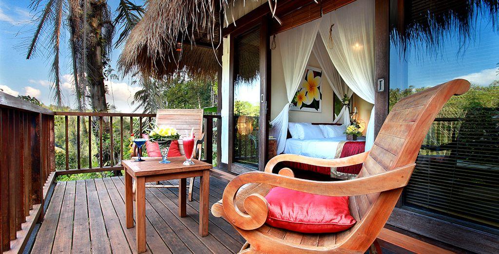 In een prachtige Jungle View Villa