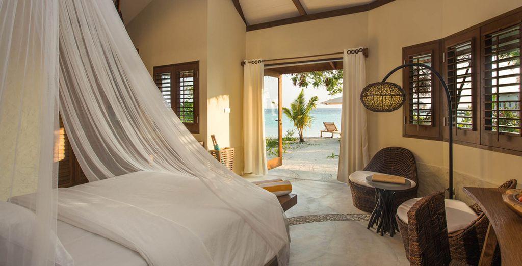 Met een kamer aan de rand van het strand