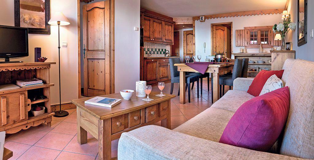 Verblijf in een gezellig appartement